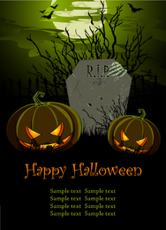 Halloween Pumpkin Element Vector