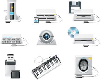 Vector de productos electronicos