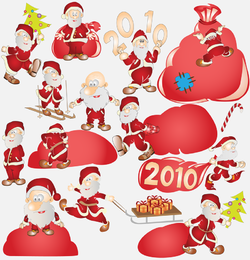 Vector Cute Santa Claus 2