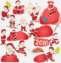 Vektor süße Weihnachtsmann 2