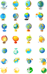 Office Supplies Of The Globe Vector