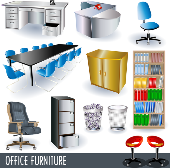 Gabinete do vetor 3d baixar vector for Muebles oficina 3d gratis