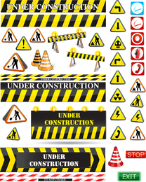 Road Warning Signs Vector