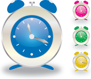 Alarm clock set with colors