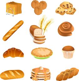 Comida rápida desayuno pasteles vector