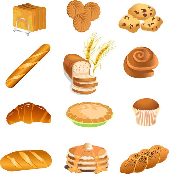 Fastfood Breakfast Pastries Vector