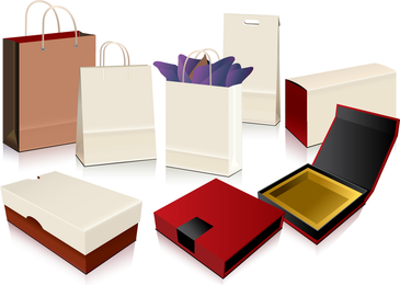 Empty Shopping Bag Packaging Vector
