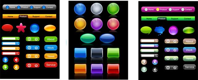 Botón colorido textura vector