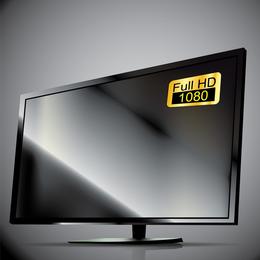 Televisor y el monitor 03 del vector