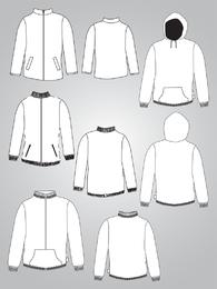 Diseño de vestuario vector
