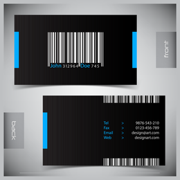 Bar code business card template