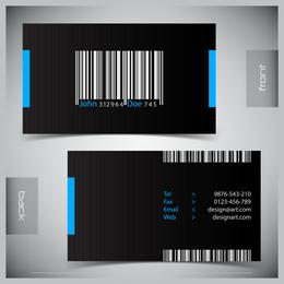 Plantilla de tarjeta de visita de código de barras