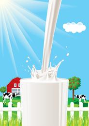 Tema de la leche vector 4