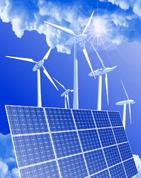 Bright green energy illustration