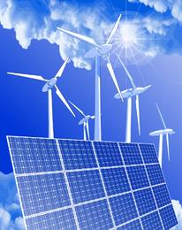 Ilustração verde brilhante de energia