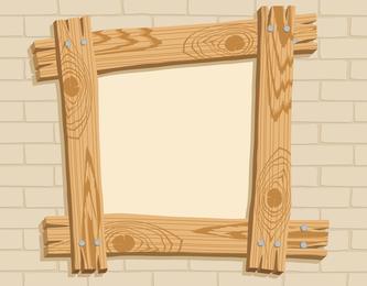 Vector del marco de madera