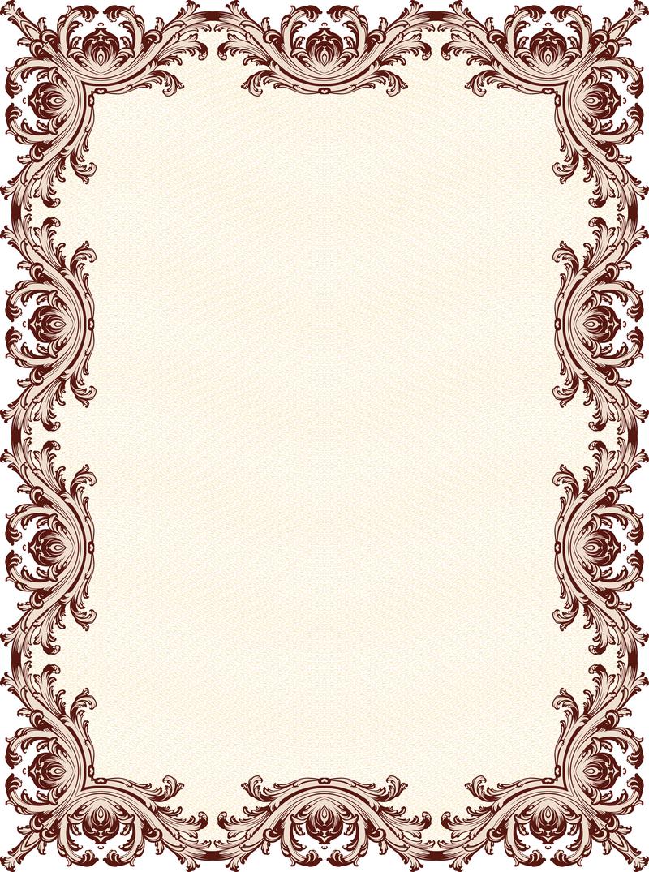 Ornamented vertical frame - Vector download