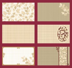 Plantilla de tarjeta elegante vector rosas tema