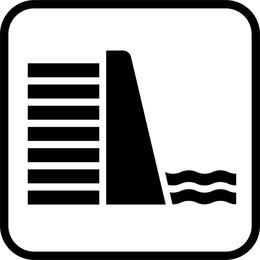 Vetor de placa de sinal de nível de água