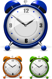 Vector colorido despertador