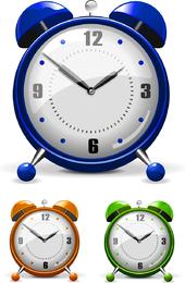 Vector colorido reloj despertador