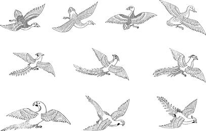 Vetor de pássaro clássico
