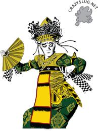 Ilustração de dançarina balinesa
