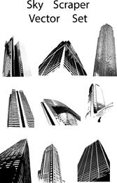 Conjunto de vetores de arranha-céu