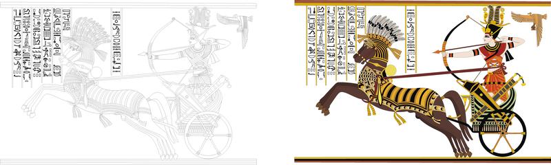 Ramses Ii batalla de piedra Diego Vector de tarjeta