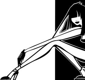Vector de la característica de las piernas femeninas