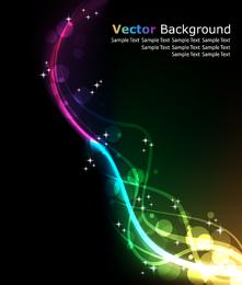 Brilla la luz y la línea 02 Vector