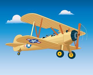 Vintage Flight Aircraft Vector