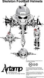 Vector Skeleton Football Helmets