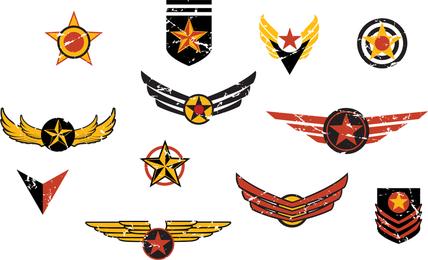 Vektor-nostalgischer Flug-Abzeichen