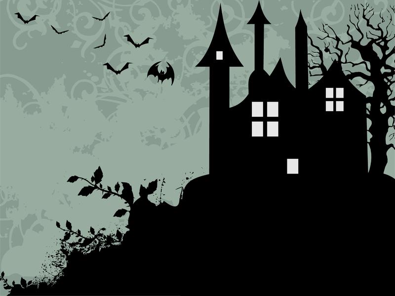Black Spooky House Silhouette