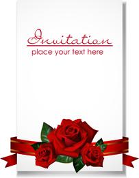 Vector de invitaciones de boda romántica