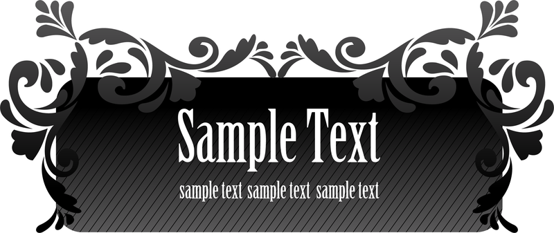 Vector Black Aesthetic Text Box Download Large Image 800x337px