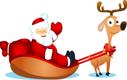 Vector bonito Papai Noel Elk E