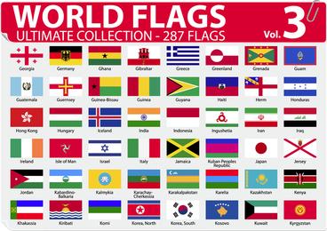Nationaler oder regionaler Flagge und regionaler Flaggen-Vektor 3