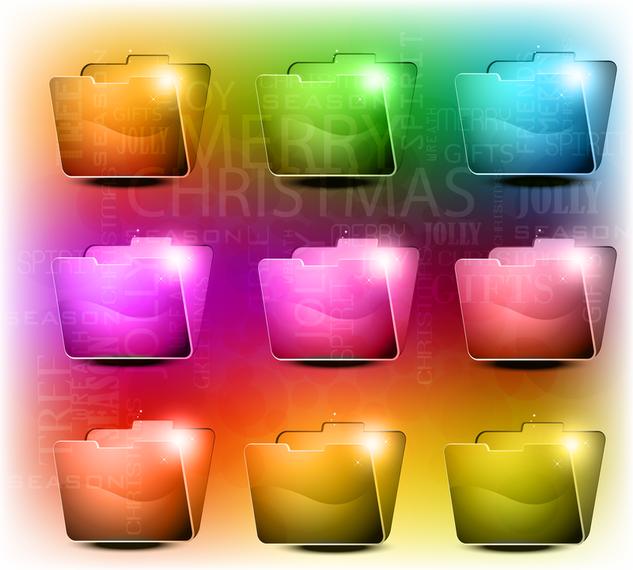 Vetor de pasta de textura de cristal brilhante