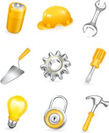 Vector de herramientas domésticas comunes
