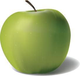 Green 3D apple design