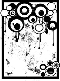 Grungy Nasty Circles Vector con gotas y hormigas extraíbles