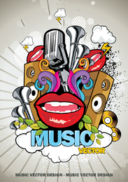 Trend Of Music Posters 01 Vector