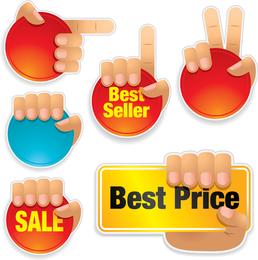Vector de gestos de ventas