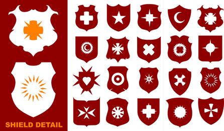 Uma Variedade De Vetor De Formas De Escudo