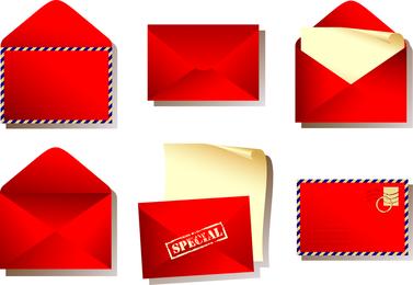 Roter Umschlag-Vektor