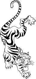 Tatuagem Estilo Vector Tiger
