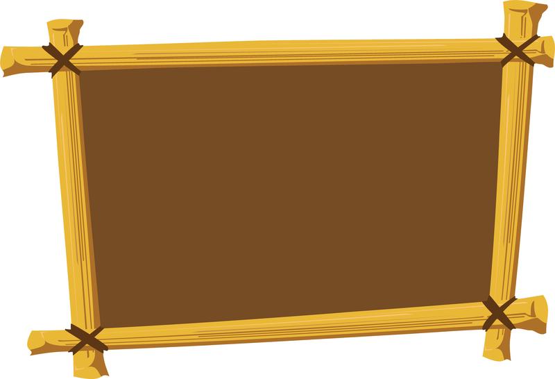 Wooden Frame Vector 2