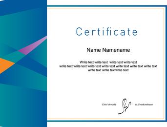 Certificado de diseño de tres vectores 2